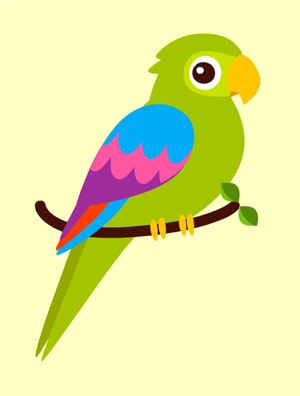 Les oiseaux - Perroquet en dessin ...